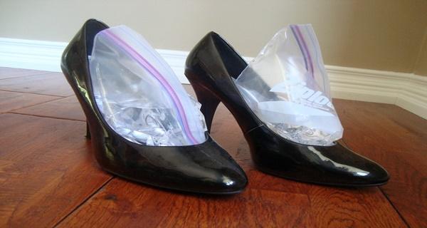 Ayakkabıyı buz ile genişletme