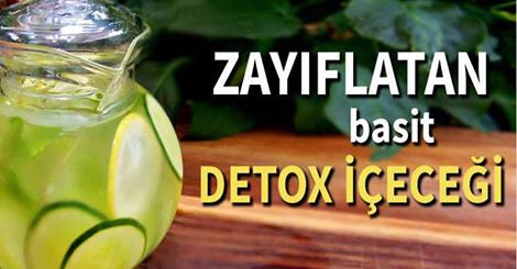 Zayıflatan detox içeceği
