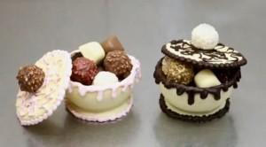Yılbaşına özel çikolatadan kase