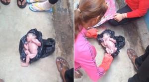 1 Saatlik bebek göbek kordonuyla çöpe atıldı