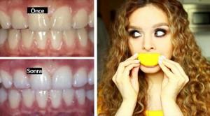 2 Dakikada dişleri beyazlatmak