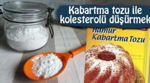 Kabartma tozu ile kolesterolü düşürmek