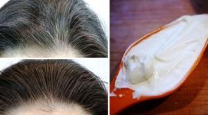Beyazlayan saçlara yoğurt kürü