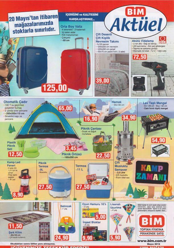 BİM 20 Mayıs 2016 Kataloğu'nu incelediğimizde birbirinden güzel ürünlerin, uygun fiyatlar ile satışa sunulacağını görebiliyoruz. BİM kataloğundaki tüm ürünleri görmek için resimlere tıklayarak inceleyebilirsiniz