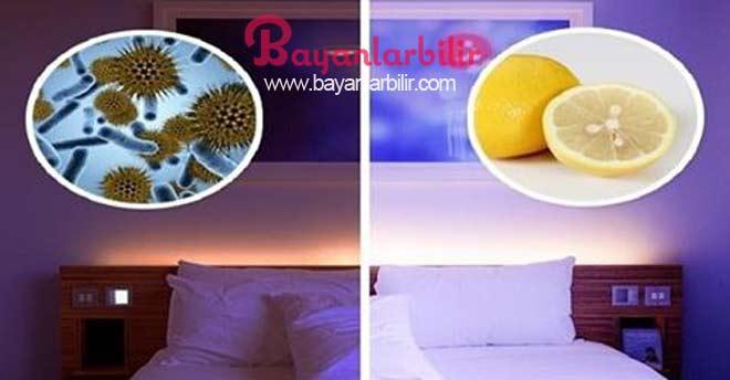 Yatağın yanına kesik limon koymak