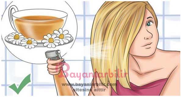 Çay ile saça renk verme tarifi
