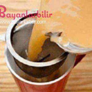 Zerdeçal ve hindistan cevizi yağı ile beraber Zencefil çayı