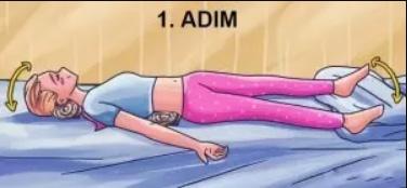 Gece rahat uyumak için yapılması gereken hareketler