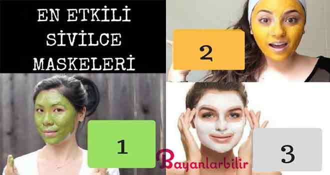 En etkili sivilce maskeleri