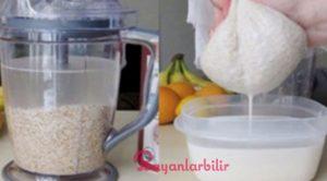 Yulaf ezmesi suyu ile hızlı kilo verme