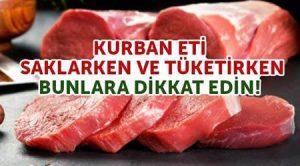 Kurban eti saklama ve tüketme tavsiyeleri